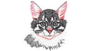 design embroidery 4x4 pretty cat embroidery design 023 download free machine