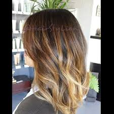 medium length hair with ombre highlights lien truong hairstylien instagram photos and videos