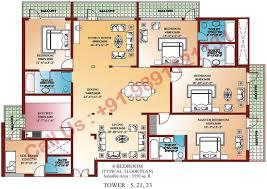 4 Bedroom Open Floor Plans Simple 4 Bed Room Plan Fujizaki