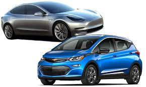 ho the tesla model 3 compares with the chevy bolt