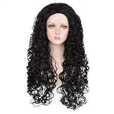 amazon com siyi anime long curly black wig for mens halloween