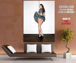Miranda Kerr Home Decor by Miranda Kerr Grey Dress Model Giant Wall Print Poster Ebay