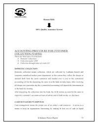 project on letter of credit and working capital