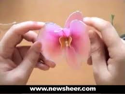 Flower Orchid How To Make Nylon Flower Orchid Youtube