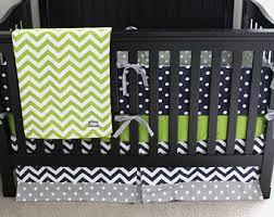 Grey And Green Crib Bedding Boy Nursery Crib Bedding Set Baby Cribset Lime Green Navy