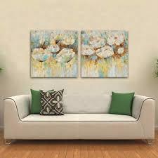 flower painting home decor handmade wall ideas piece sets wall