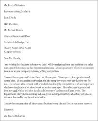 bunch ideas of how to write a resignation letter hr manager with