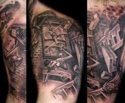 grey ink firefighter on left sleeve