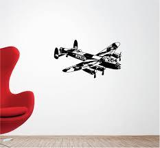 lancaster bomber plane vinyl wall art quote sticker bedroom