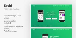 droid u2014 mobile app fullscreen landing page html template by aspirity
