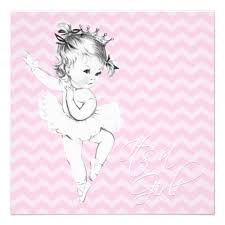 ballerina baby shower invitations personalized ballerina baby shower invitations