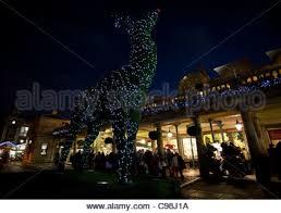 Deer Christmas Lights Giant Christmas Lights Decoration In Manhattan New York Stock