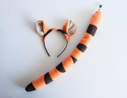 tiger headband tiger ears headband and orange tiger costume