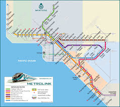 Map Of Orange County Ca Southern California Amtrak Map California Map