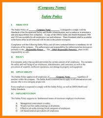 9 safety policy template awards templates