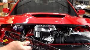 hellcat engine swap how to install hellcat hood vents youtube