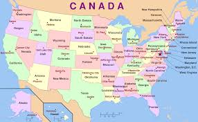 Canadian Provinces Map Usa And Canada Combo Powerpoint Map Editable States Provinces