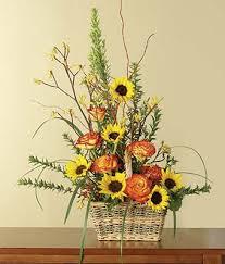 sympathy basket yellow orange sympathy basket at from you flowers