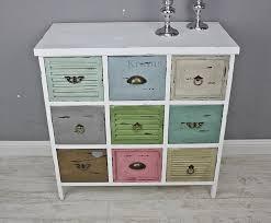 Schlafzimmer Kommode Shabby Elbmöbel Kommode Vintage Aus Holz Mit Bunten Schubladen Im Shabby