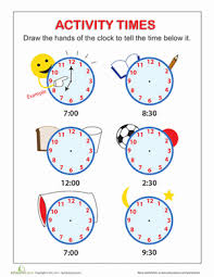 tell the time worksheet education com