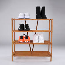 ultideco 3 tier solid wood shoe rack household shoes tower and