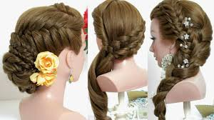 3 cute hairstyles for long hair tutorial youtube