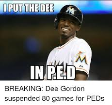 Dee Gordon Meme - i put the dee in red breaking dee gordon suspended 80 games for peds