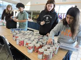 penn state lehigh valley s annual thanksgiving food drive feeds