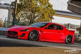 red maserati spyder liberty walk maserati granturismo body kit supercar body kits