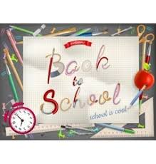 back to school greeting card royalty free vector image