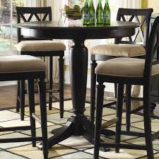 small kitchen table with bar stools camden dark 42 round bar height table by american drew bar