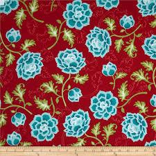 riley blake la vie boheme main red discount designer fabric
