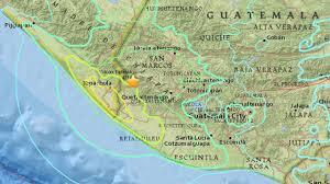 Chiapas Mexico Map Magnitude 6 9 Earthquake Triggers Landslides In Guatemala Near