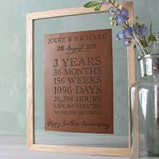 3rd wedding anniversary gift ideas leather 3rd wedding anniversary gifts gettingpersonal co uk