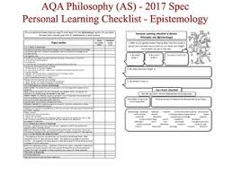 aqa philosophy as level plcs personal learning checklists