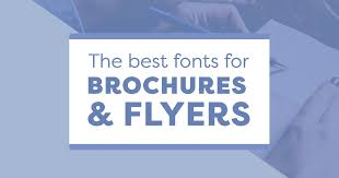 best fonts for business brochures and flyers that stand out