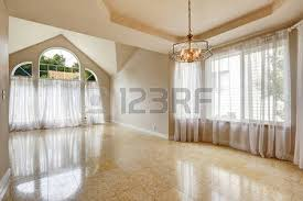 Marble House Interior Emtpy House Interior With Shiny Tile Floor And Brith White Walls