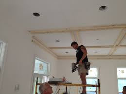 ceiling treatments we are adding a custom coffered ceiling
