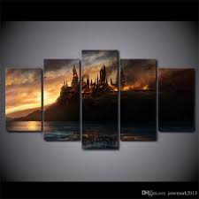 2017 canvas art harry potter castle printed wall art home decor