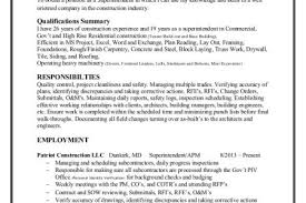 Construction Estimator Resume Sample by Electrical Superintendent Resume Samples Reentrycorps
