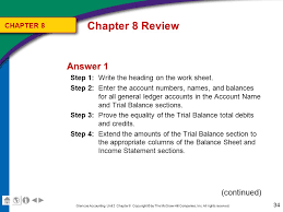 chapter 8 the six column work sheet ppt video online download