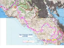 San Francisco Elevation Map San Francisco 50 Mile Endurance Run