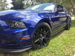 Blue Mustang Black Stripes Sve Mustang Drift Wheel 19x9 5 Flat Black 05 17