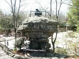 mushroom rock at rock city gardens lookout mountain ga