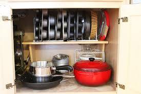 Pots And Pans Cabinet Rack Best Pots Pans Rack Kitchen Cabinet Organizer Pantry Cupboard