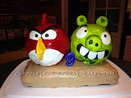 coolest 3d angry birds characters birthday cake
