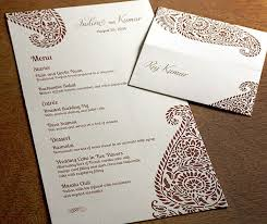 south asian wedding invitations 92 best reception menus images on letterpress