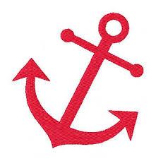 anchor summer machine embroidery design nautical