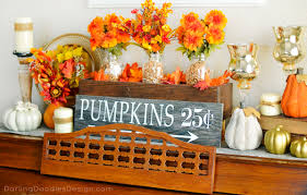 thanksgiving mantel fall mantel decor archives darling doodles