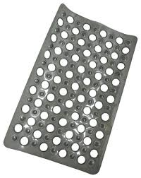 non skid bath tub mat with holes 23 5 x 15 solid colors